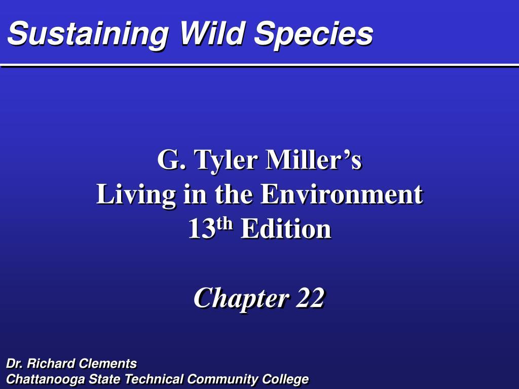 sustaining wild species l.