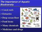 the importance of aquatic biodiversity