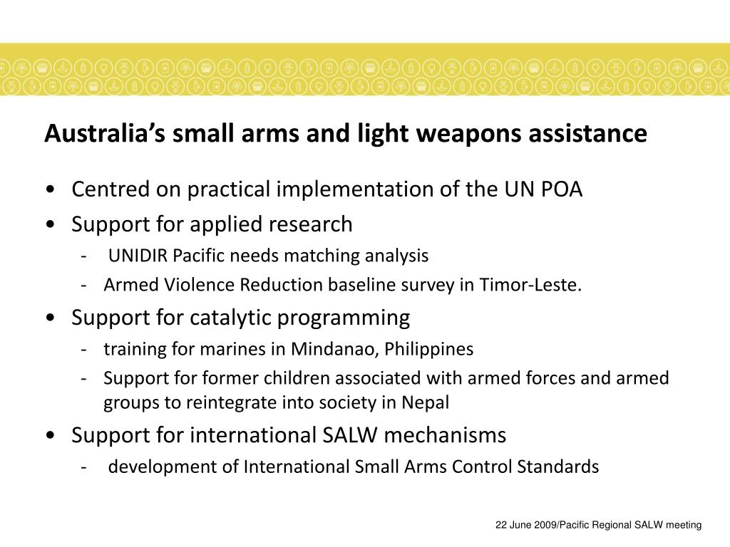 Australia's small arms and light weapons assistance