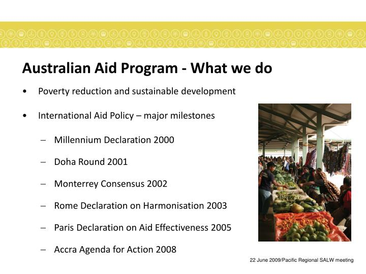 Australian aid program what we do
