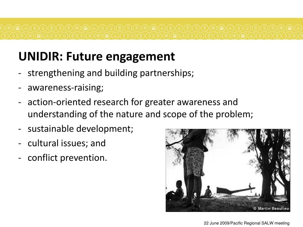 UNIDIR: Future engagement