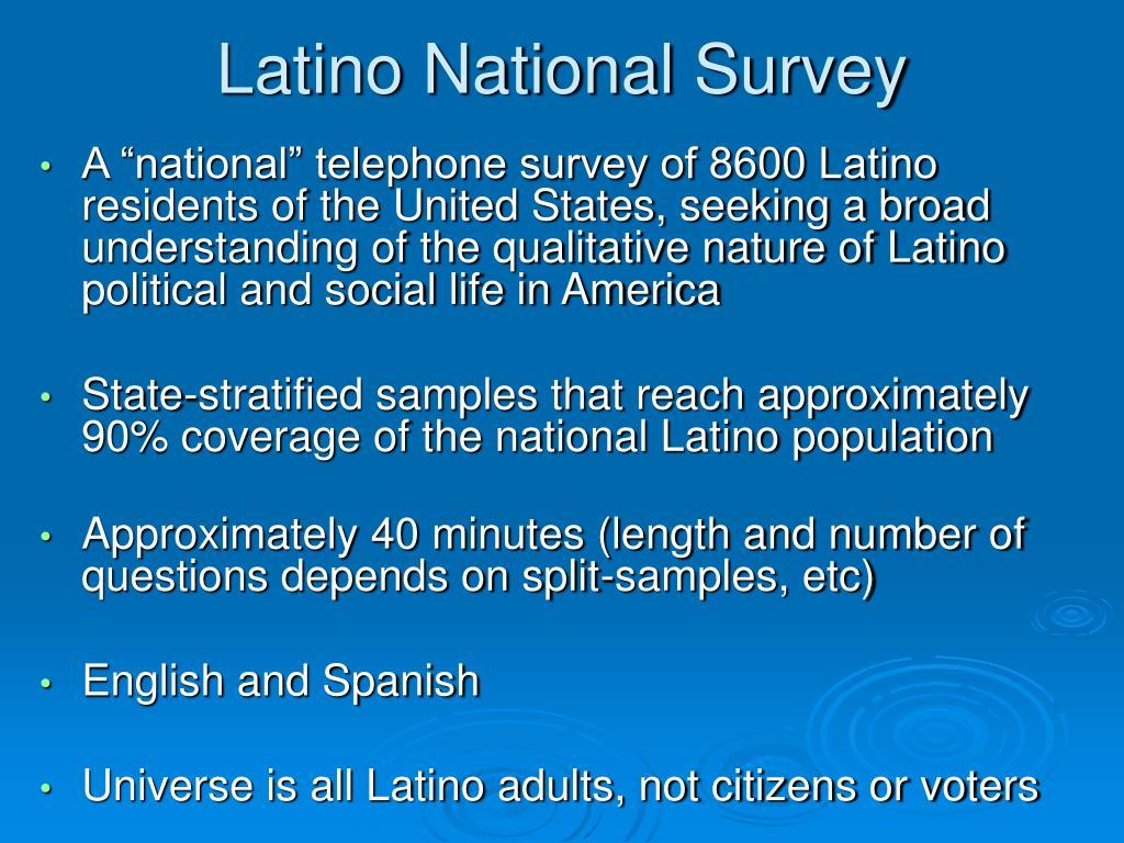 Latino National Survey