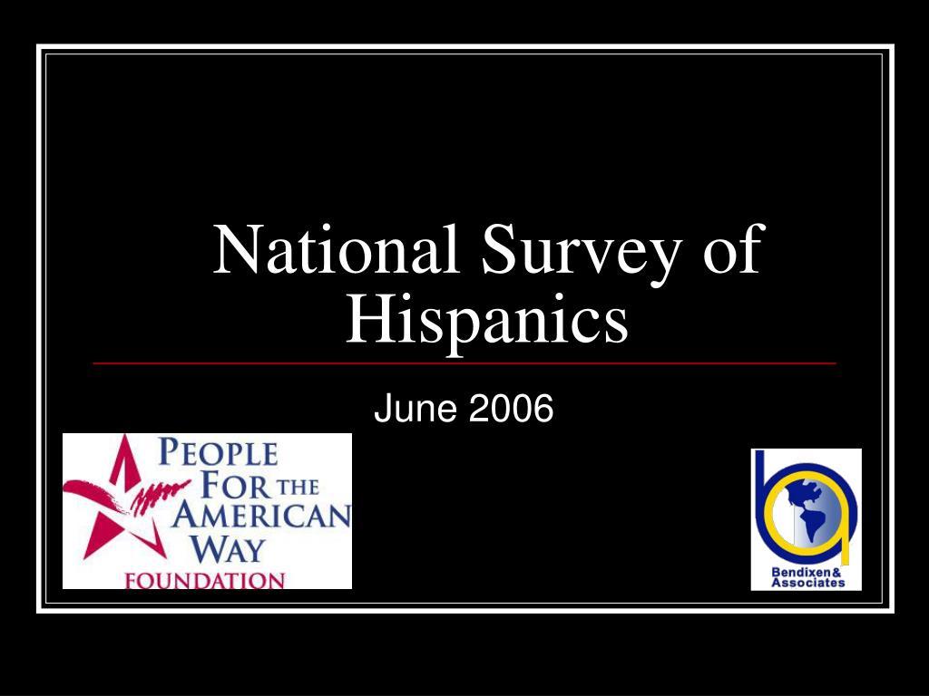 National Survey of Hispanics