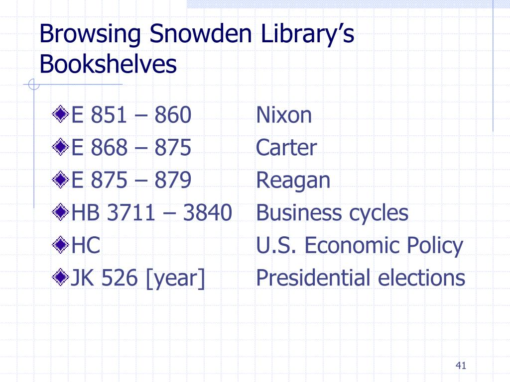 Browsing Snowden Library's Bookshelves