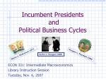 incumbent presidents and political business cycles