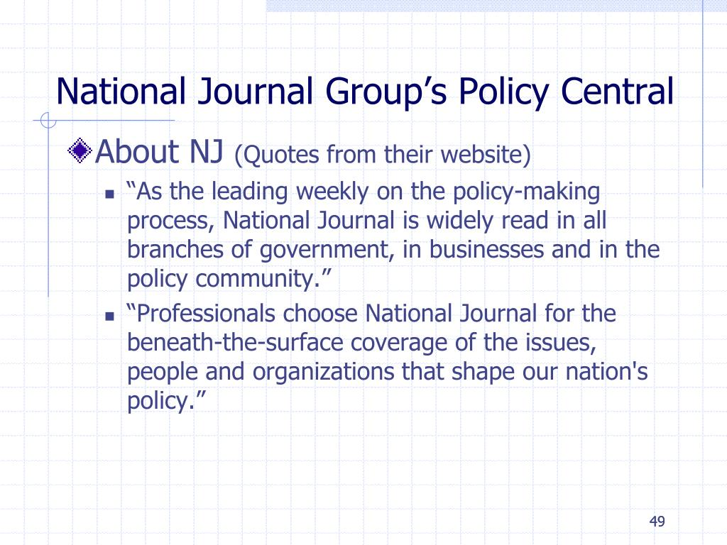 National Journal Group's Policy Central