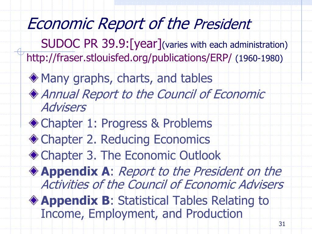 Economic Report of the