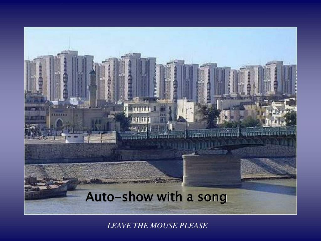 auto show with a song leave the mouse please l.
