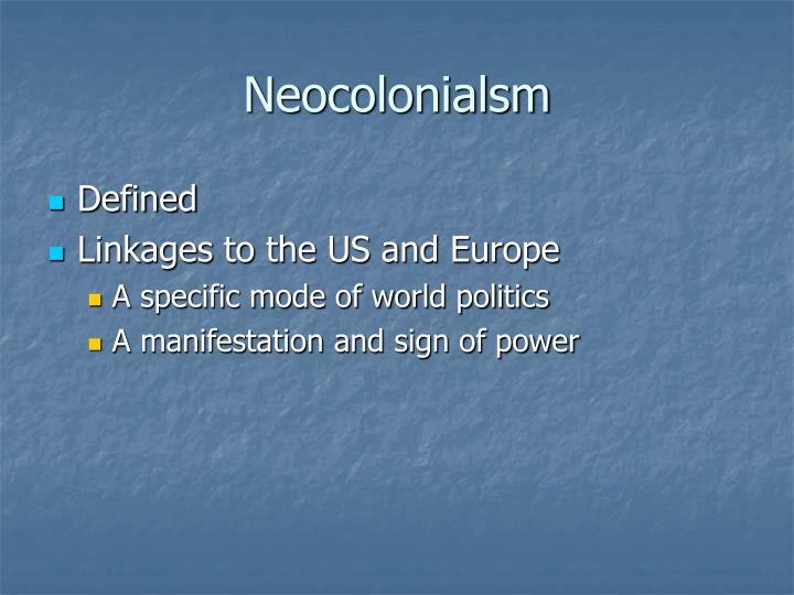 Neocolonialsm