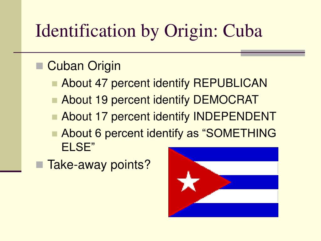 Identification by Origin: Cuba