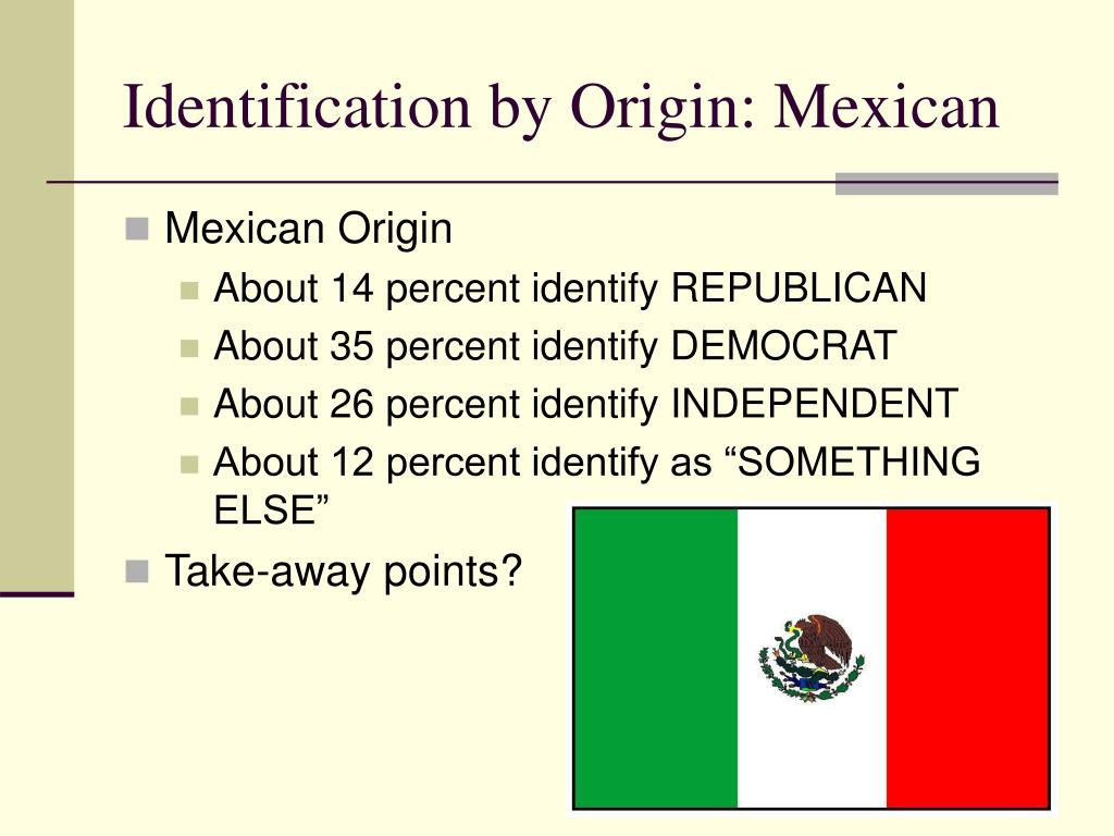 Identification by Origin: Mexican
