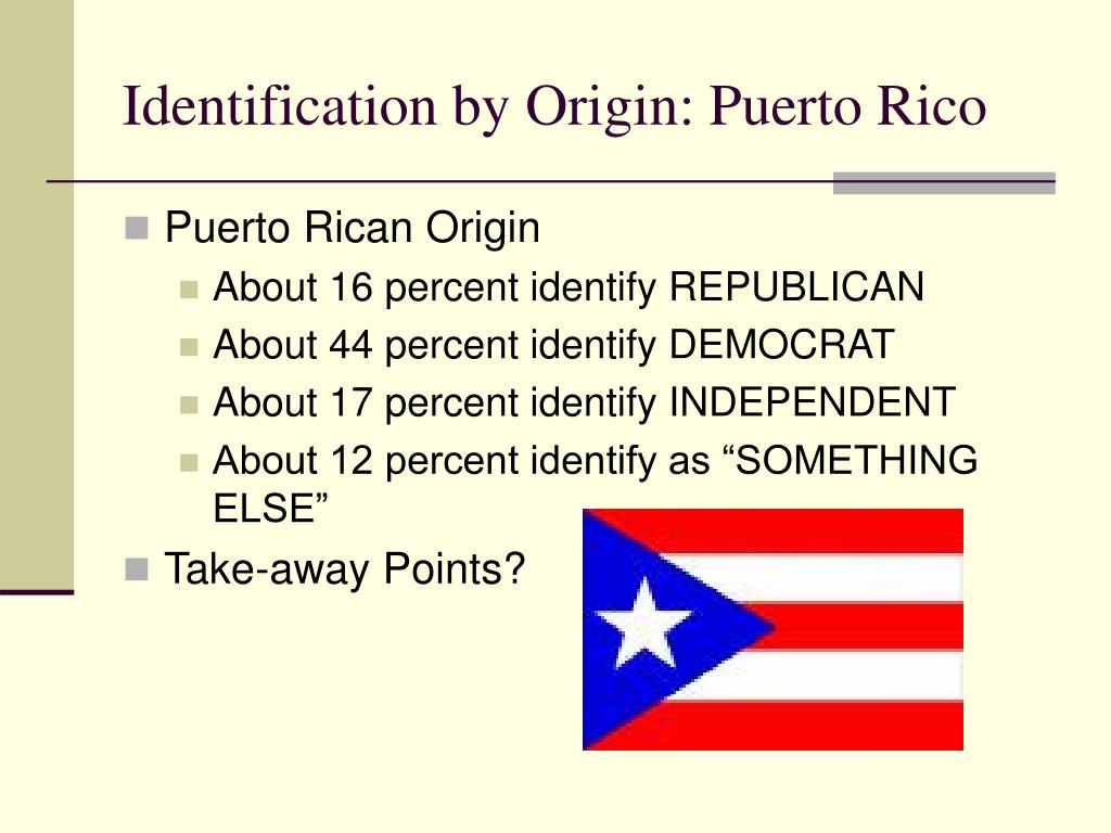 Identification by Origin: Puerto Rico
