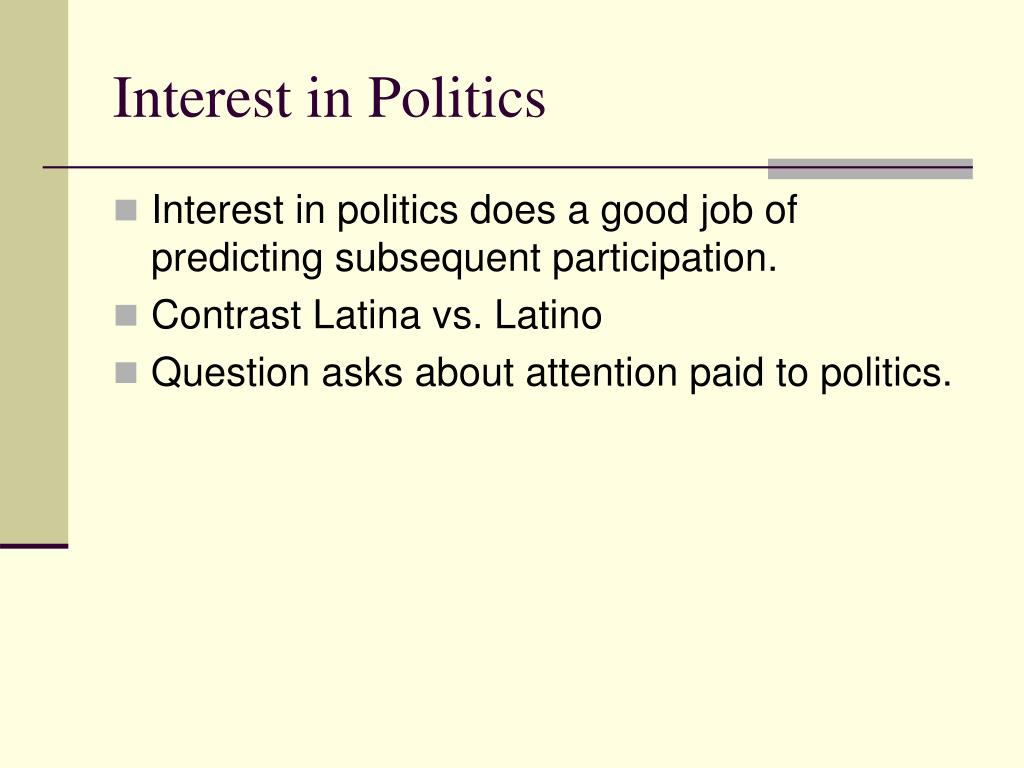 Interest in Politics