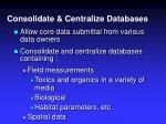 consolidate centralize databases12