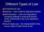 different types of law