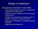 models of federalism38