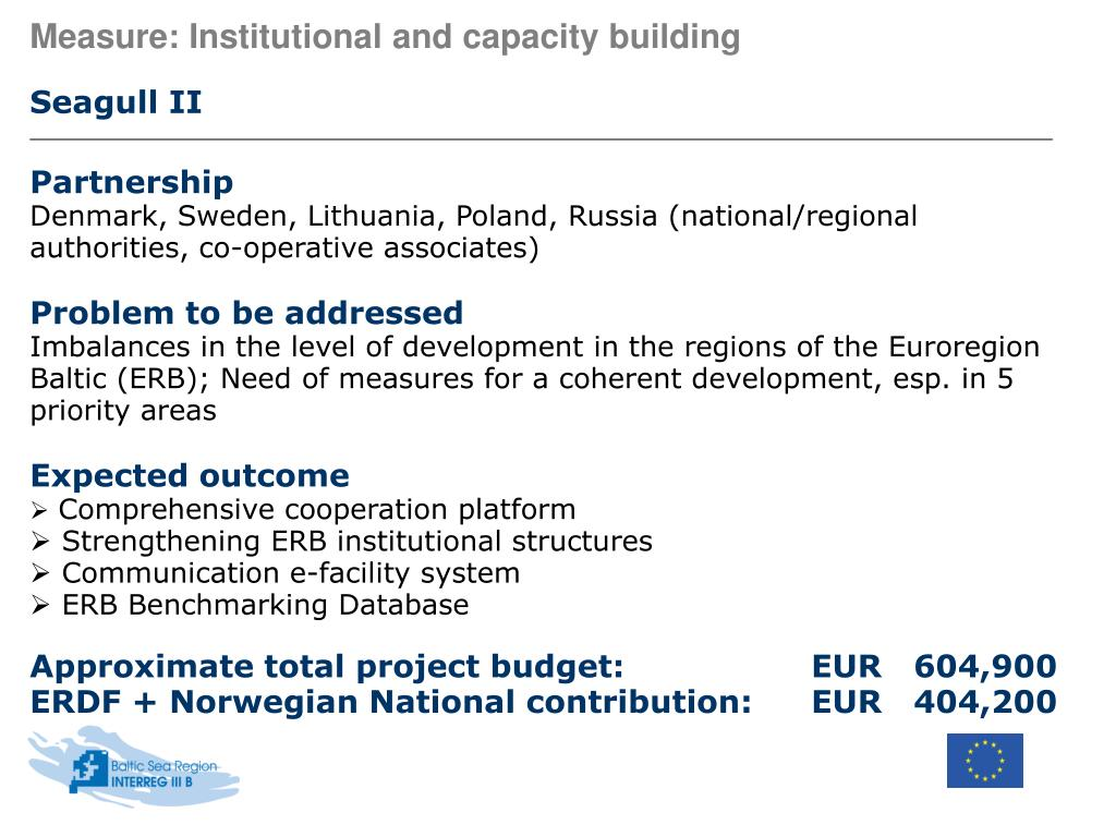 Measure: Institutional and capacity building