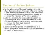 election of andrew jackson