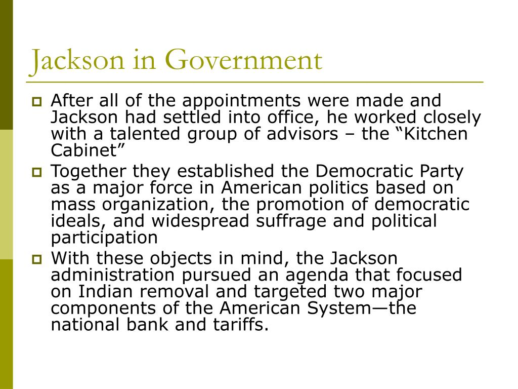 Jackson in Government