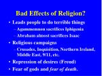 bad effects of religion