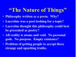 the nature of things1