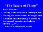 the nature of things5