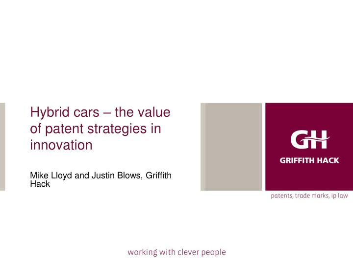 hybrid cars the value of patent strategies in innovation n.