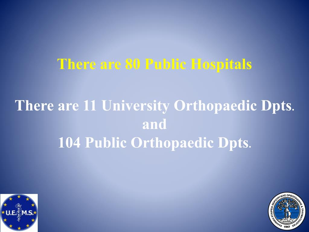 There are 80 Public Hospitals