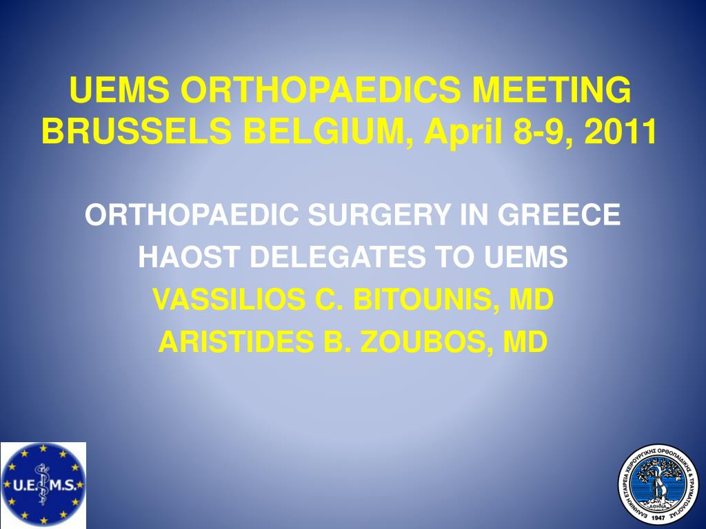 UEMS ORTHOPAEDICS MEETING