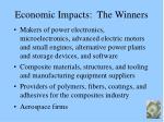 economic impacts the winners