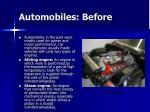 automobiles before