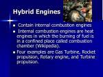 hybrid engines