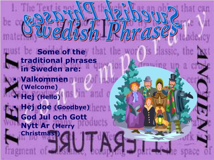 Swedish Phrases Swedish Phrases