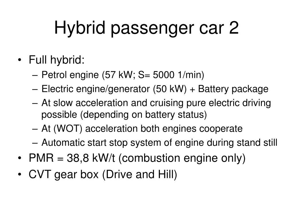 Hybrid passenger car 2