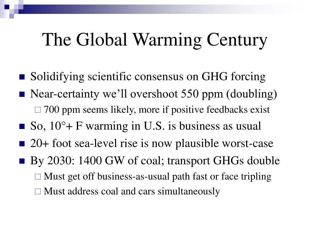The Global Warming Century