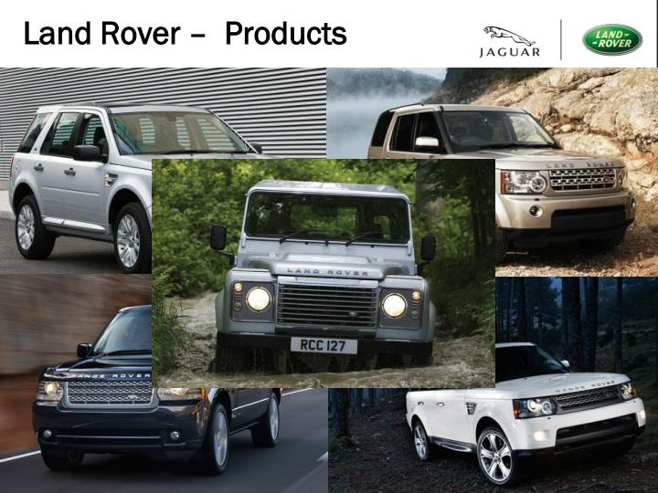 Land rover products