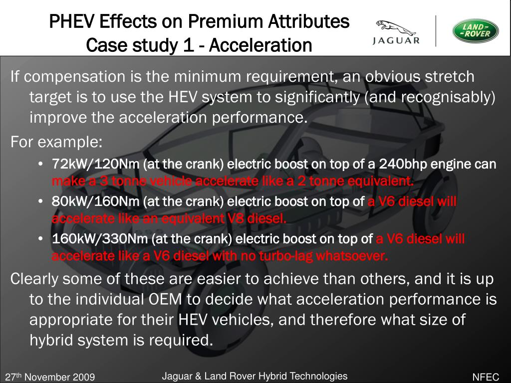PHEV Effects on Premium Attributes