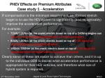 phev effects on premium attributes case study 1 acceleration23