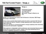 tsb part funded project range e
