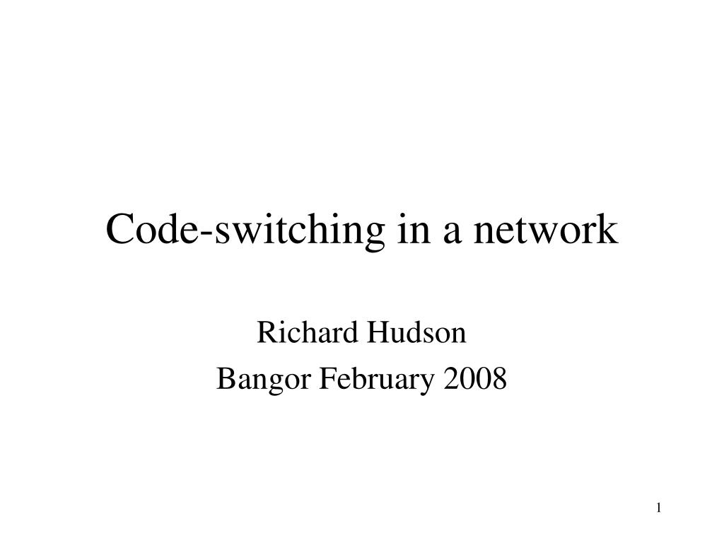 code switching in a network