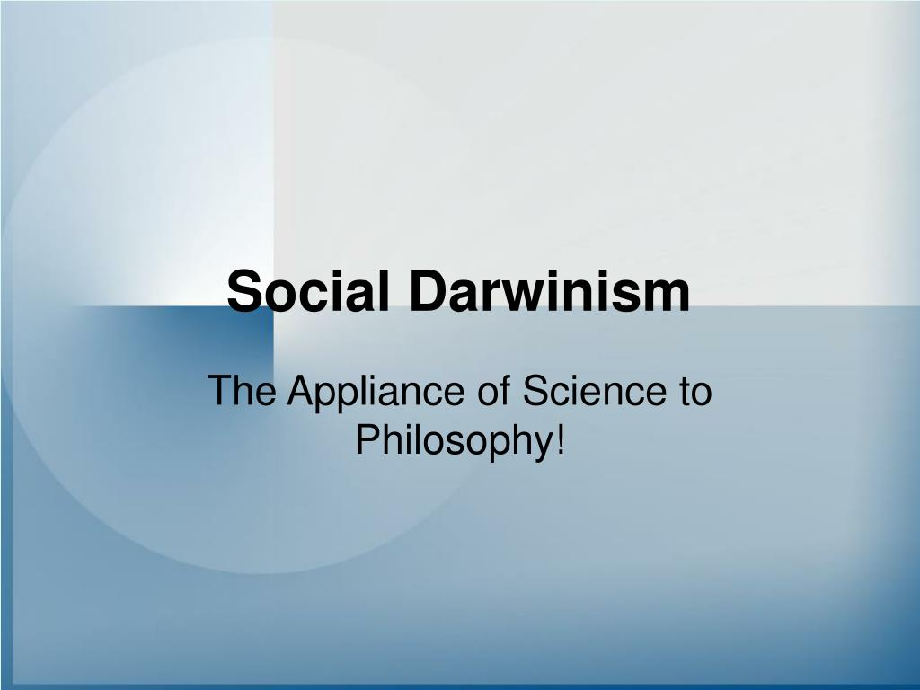 the theory of social darwinism essay