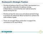 rockwood s strategic position40