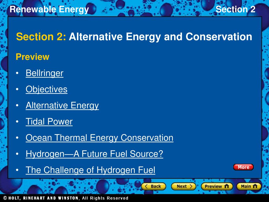 section 2 alternative energy and conservation l.