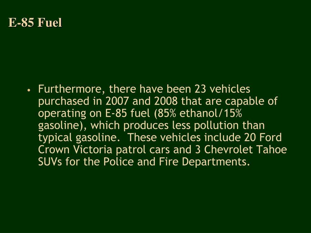 E-85 Fuel