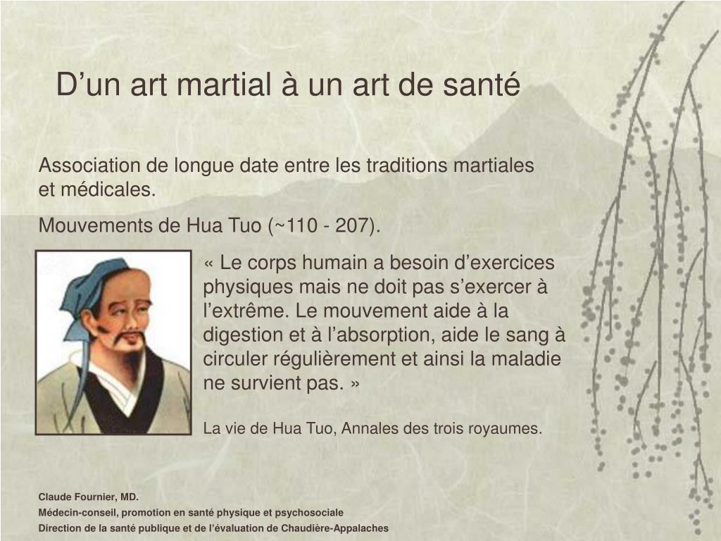 D'un art martial à un art de santé