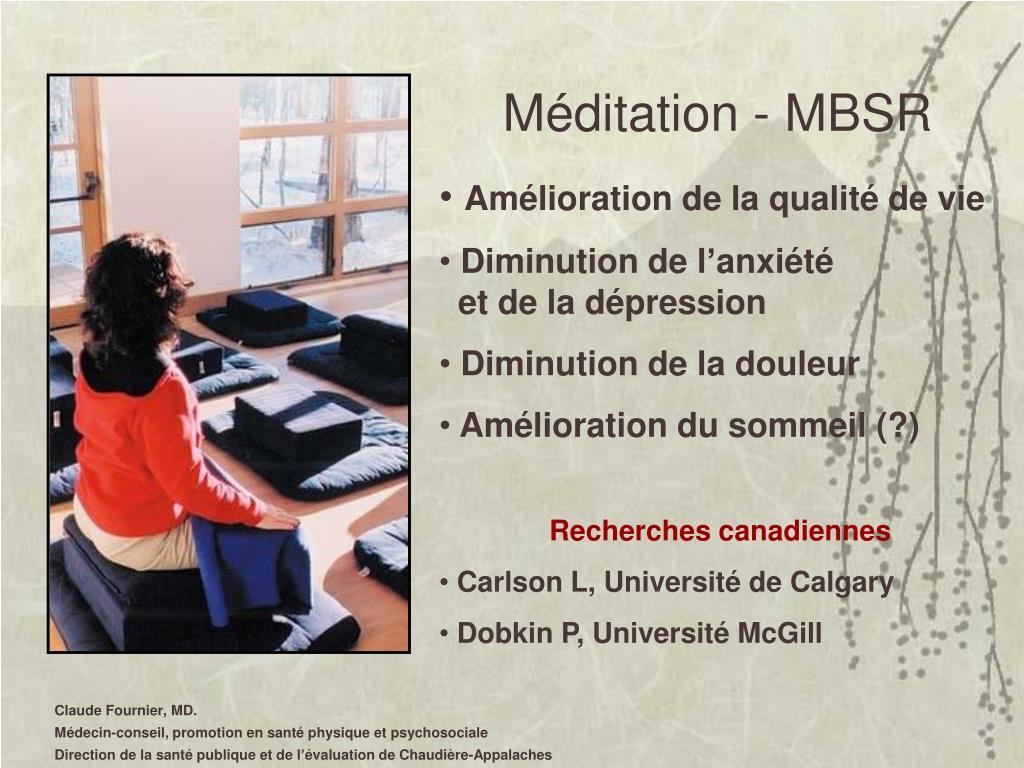 Méditation - MBSR