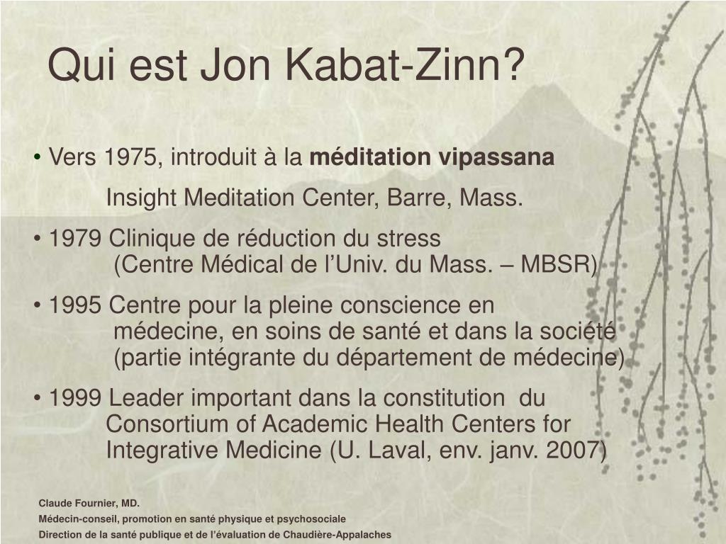 Qui est Jon Kabat-Zinn?