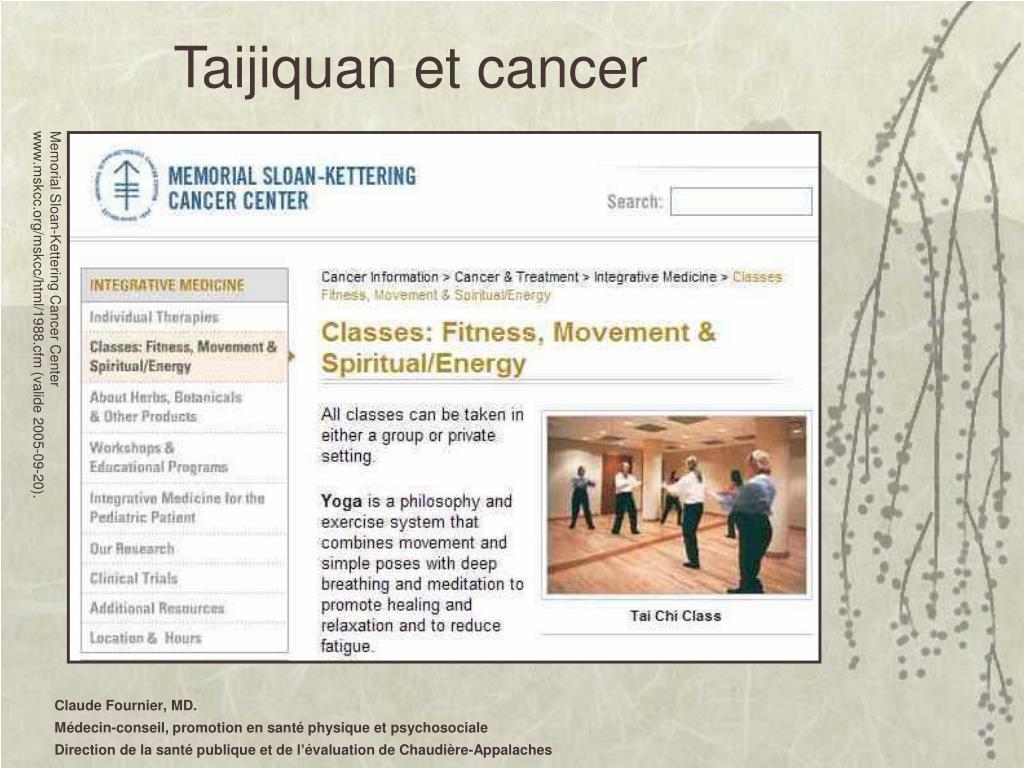 Taijiquan et cancer