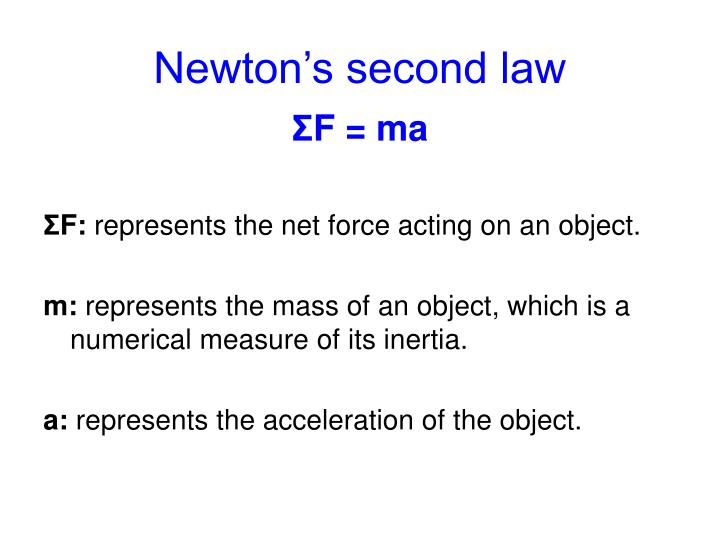 Newton s second law