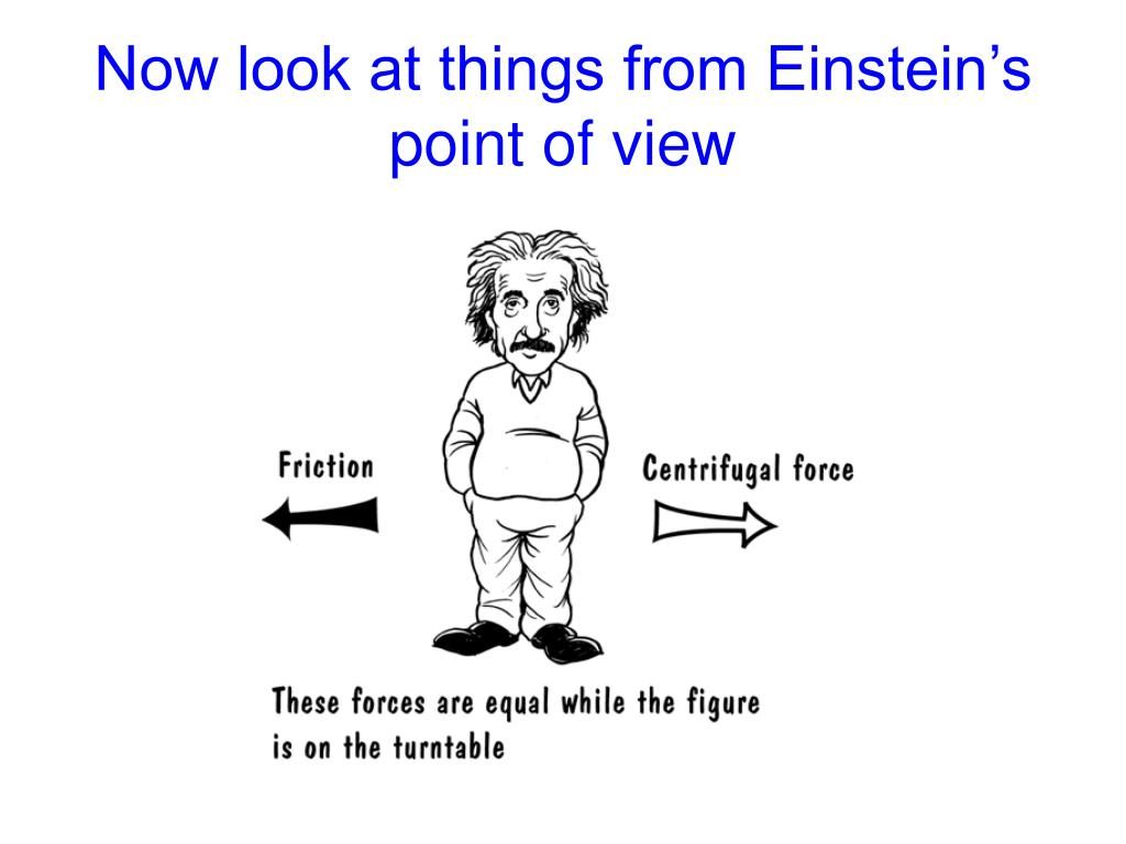 Now look at things from Einstein's point of view